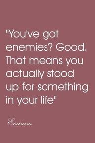 Enemies?