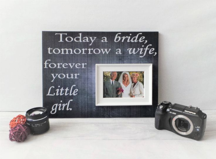 Today A Bride Personalised Frames Custom Wedding Gift For Mum