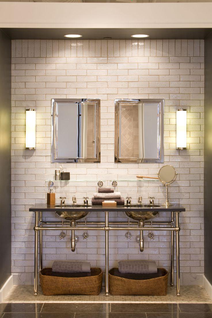 Possible Lighting Scenario for BOYS BATH RENO (cans & sconces) Waterworks Denver Showroom