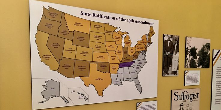 This map reveals when a state ratified (or chose not to ratify) the 19th Amendment.