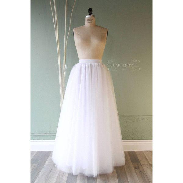 Ethereal White Tulle Long Skirt Long Flowing Skirt In White Or