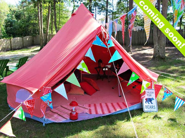 Tent Camping In Backyard : Activities, Wheels and Backyard camping parties on Pinterest