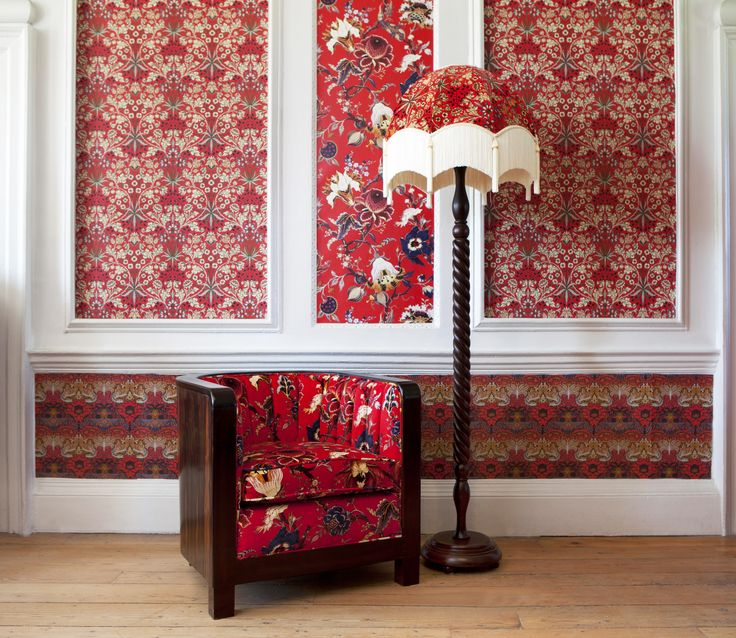 Part of the HOUSE OF HACKNEY x WILLIAM MORRIS AW15 collection: Artemis Scarlet Red Wallpaper http://www.houseofhackney.com/artemis-wallpaper-scarlet-red.html, Hyacinth Scarlet Red Wallpaper http://www.houseofhackney.com/hyacinth-wallpaper-scarlet-red.html, Peacock & Dragon Scarlet Red Wallpaper http://www.houseofhackney.com/peacock-and-dragon-wallpaper-scarlet-red.html, Artemis Scarlet Red 'Clermont' Chair http://www.houseofhackney.com/artemis-clermont-chair-scarlet-red.html