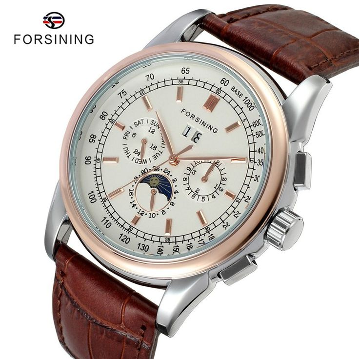 Find More Mechanical Watches Information about 5 Colors FORSINING montre homme Calendar Mens Leather Automatic Mechanical Luxury Men Watch Brand Male Clock Relogio Masculino,High Quality clock jewelry,China watches panerai Suppliers, Cheap clock metal from YIKOO Watches Store on Aliexpress.com