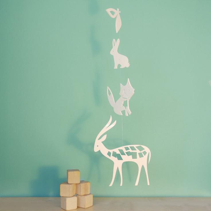 Deer Fox Bunny Mobile, Babybett Mobile, Baby Mobile, Kindergarten Mobile Decor – Dee …