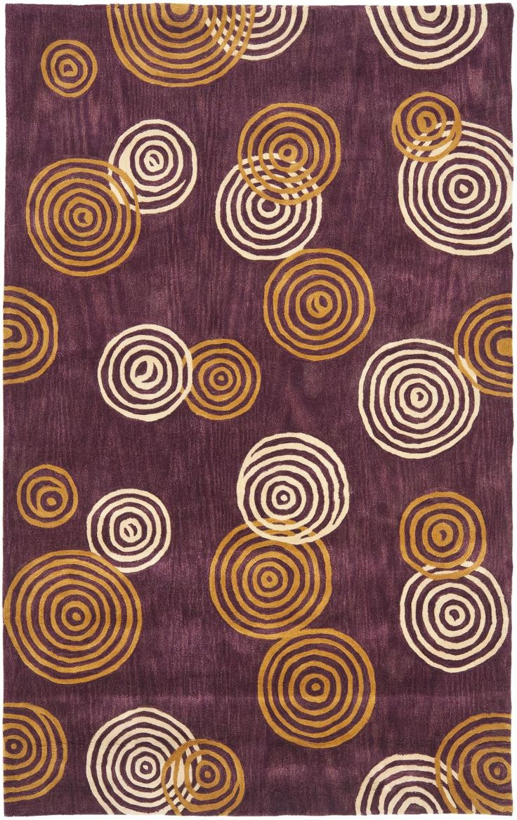 Safavieh Rodeo Drive RD633A Plum And Ivory Area Rug | Bold Rugs. Multiple  Lined Circles