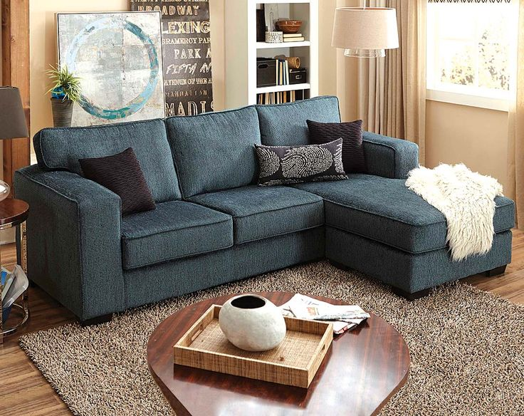 Blue, Green Modern Sofa With Chaise | Ripple Teal 2 Piece Sectional | American  Freight