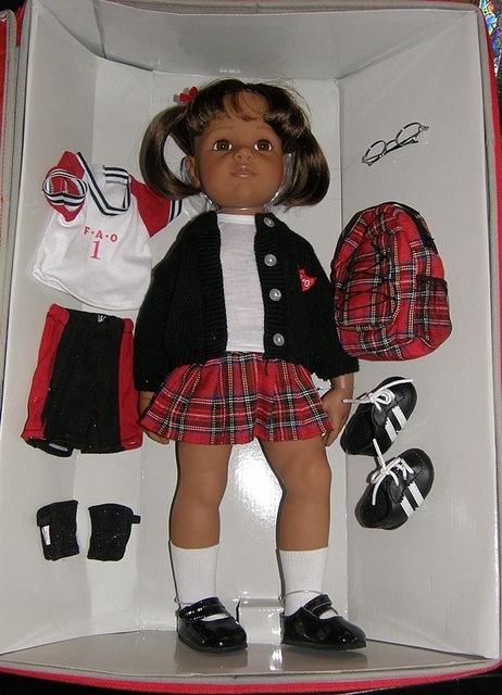 Gotz Doll Claudia for FAO Schwarz, bought in New York in 2010.