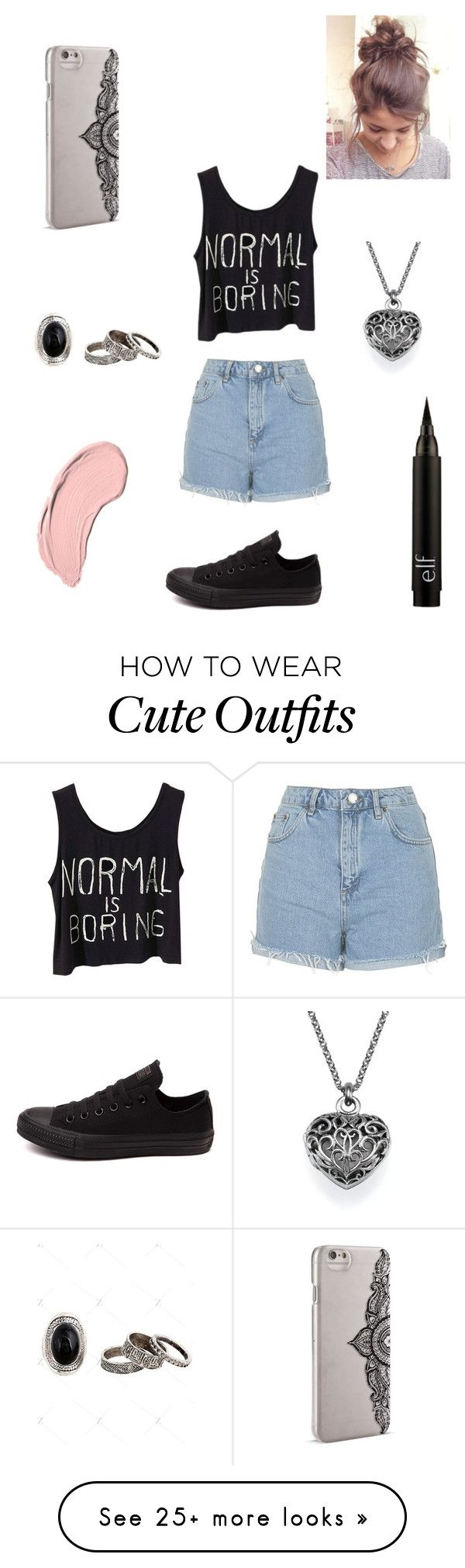 """""""Casual outfit"""" by nicolettelessa on Polyvore featuring NYX, Topshop, Converse and Nanette Lepore"""
