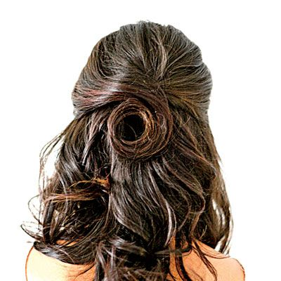 Sophisticated Half-Back Twist   Southern ladies are social butterflies—we need more than a standard blowout to see us through weddings, luncheons, and dinner parties. A half-back style is elegant, but still fun and feminine.