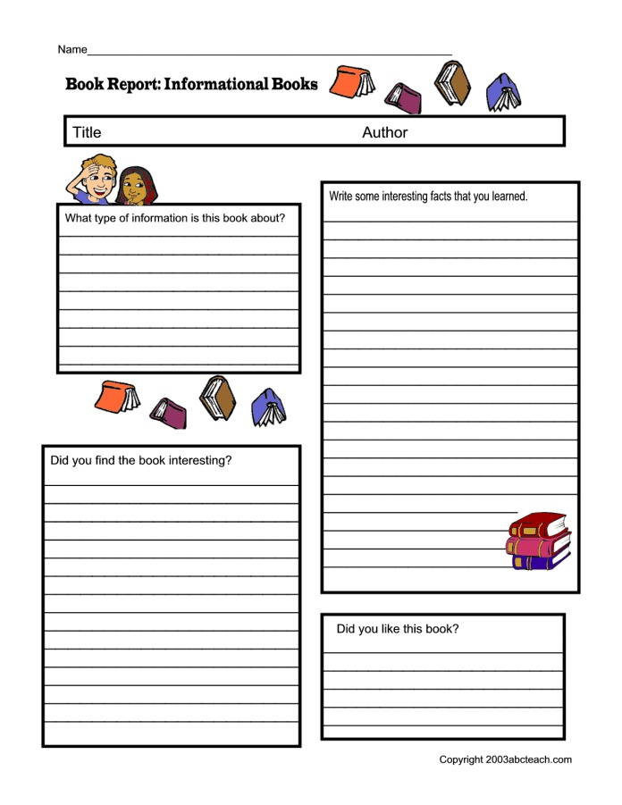 how to write a nonfiction book report for kids