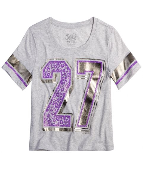 Varsity Shrunken Graphic Tee   Girls Graphic Tees Clothes   Shop Justice