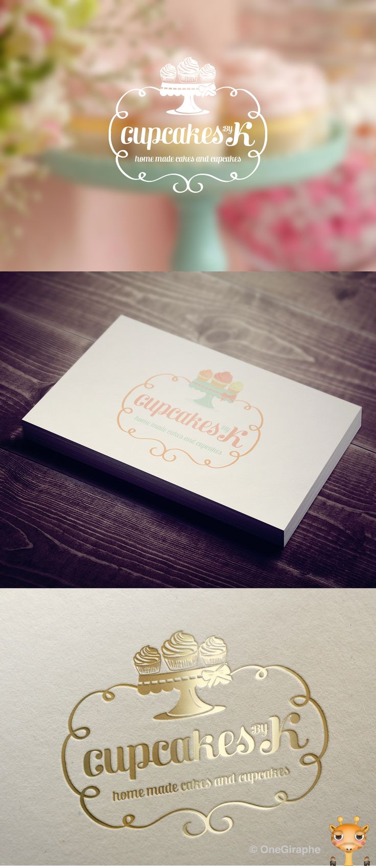 142 best images on pinterest business cards graphics and branding for cake cupcake bakery for sale logo color variations and reheart Choice Image