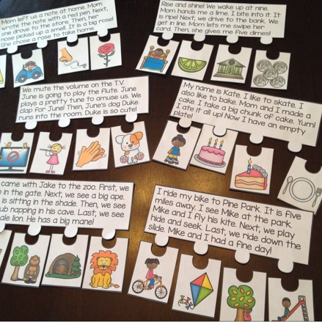Reading fluency and comprehension puzzles that make reading fluency fun - students read the short story and put the events in order - each set focuses on a specific phonics skill, this is CVCe long vowels