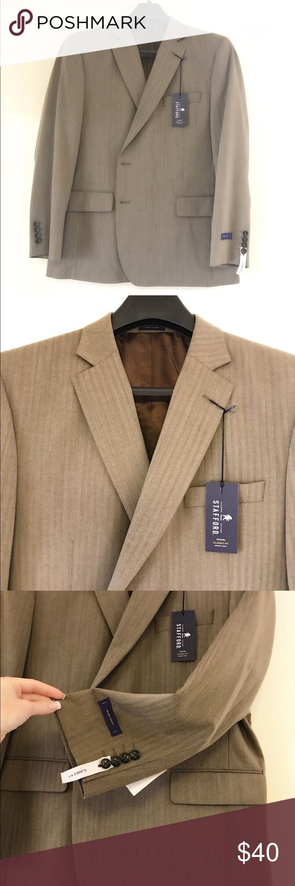 Men's Stafford Sport Coat This men's sports coat is new with tags. It is a classic fit sports coat. stafford Suits & Blazers Sport Coats & Blazers