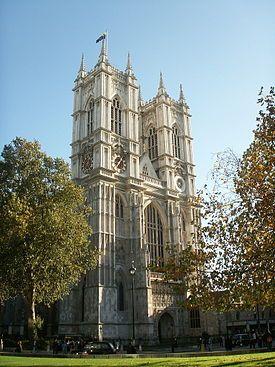 Westminster Abbey(7)ウェストミンスター宮殿、ならびに聖マーガレット教会を含むウェストミンスター寺院の西側ファサード 文化遺産 イギリス(ロンドン)