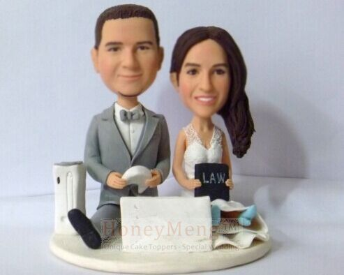 Personalized Weddding Cake Toppers