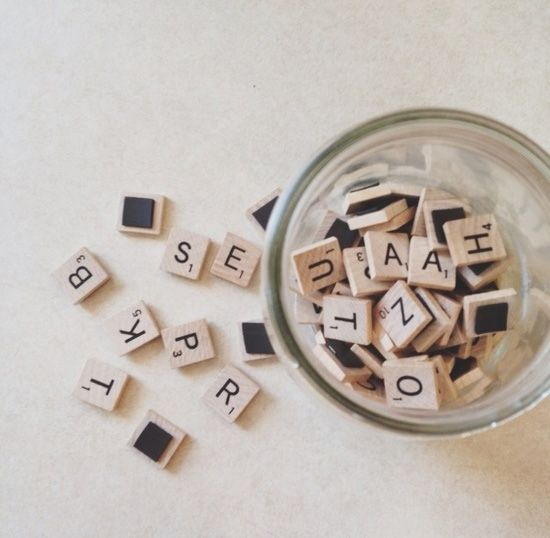 Magnets on scrabble letters, great idea!