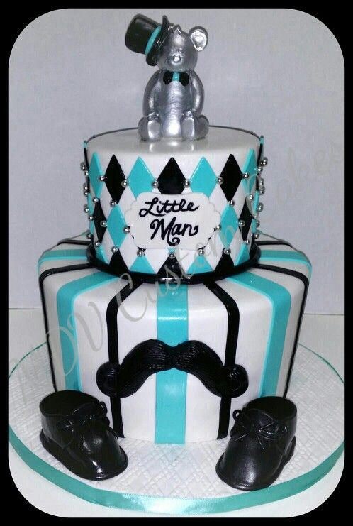 Little Man Baby Shower Cake My Cake Designs Pinterest
