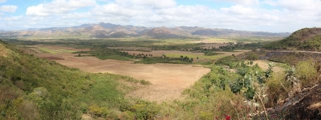 The view from the Valley de los Ingenios sugar mill watchtower