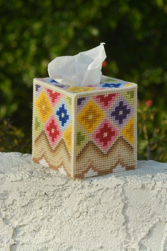 Geometric Flower Tissue Box Cover                                                                                                                                                                                 More