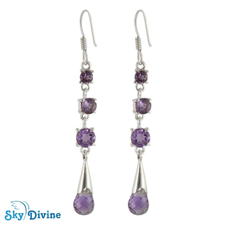 Sky Divine - 925 Sterling Silver amethyst Earring SDAER23c SkyDivine Jewellery, $74.22 (http://www.skydivine.com.au/925-sterling-silver-amethyst-earring-sdaer23c-skydivine-jewellery/)