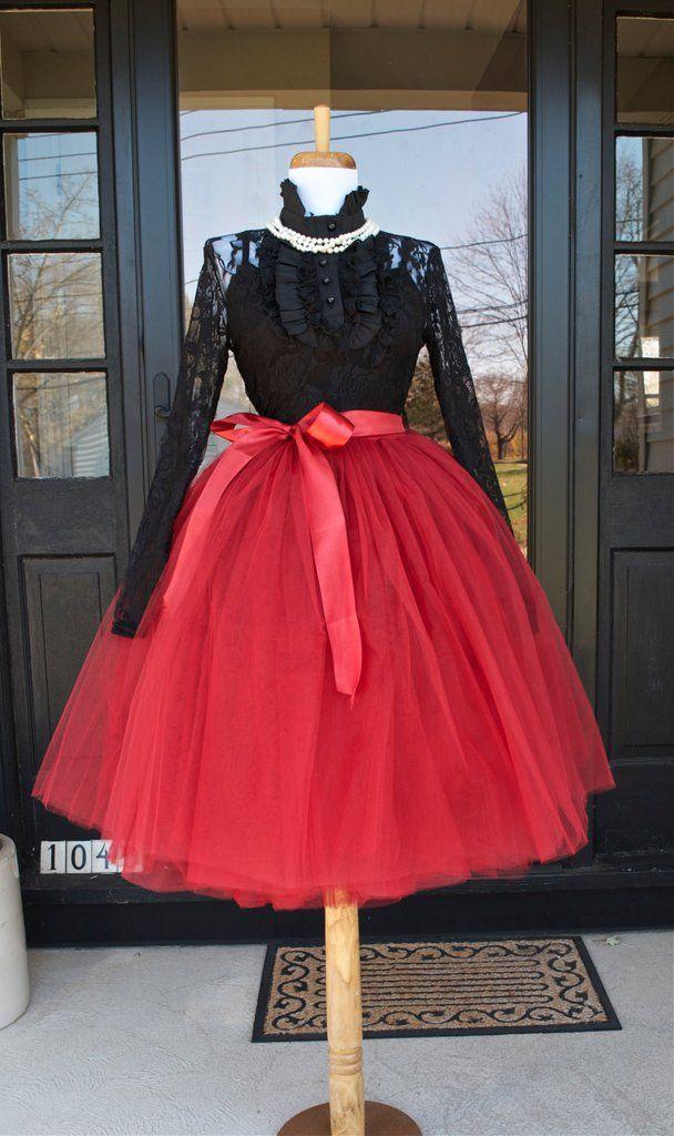 Cranberry Maroon Tulle skirt Tutu