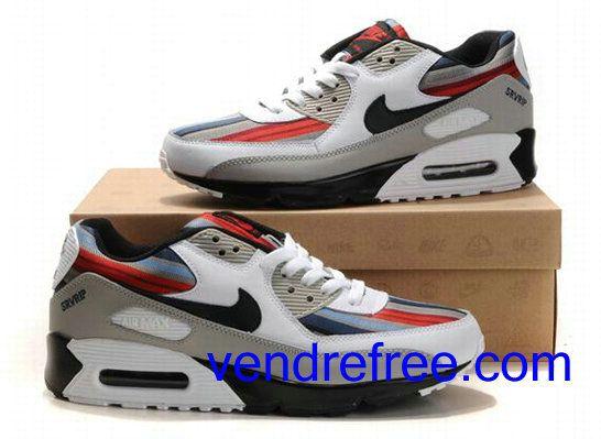 Vendre Pas Cher Homme Chaussures Nike Air Max 90 (couleur:blanc,noir,