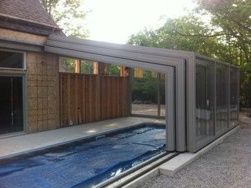 Retractable Pool Enclosures Open.... With A Push Of A Button   Modern
