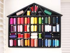 Easy Makeover: House Shelf Thread Storage