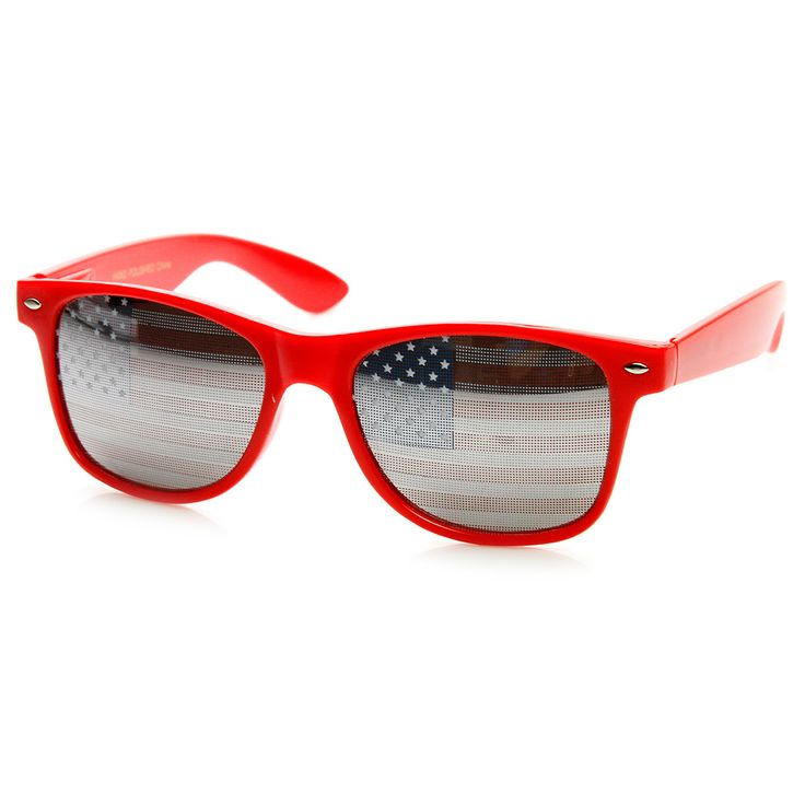 American Flag USA Patriotic United States Horn Rimmed Sunglasses