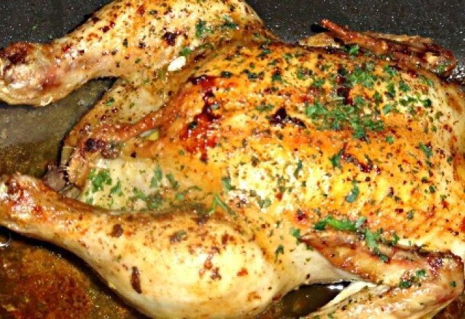 Citromos-petrezselymes sült csirke recept