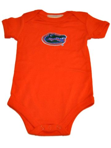 Florida Gators Two Feet Ahead Infant Baby Lap Shoulder Orange One Piece Outfit
