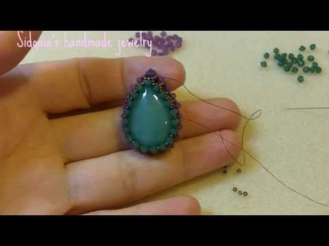 Mother Earth Pendant - Beading Around A Cabochon - YouTube