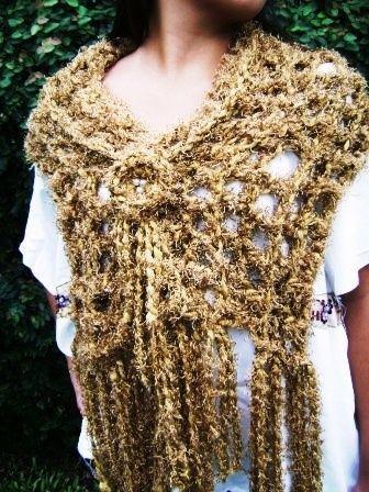 Pashminas Tejidas a Crochet - Tejidos artesanales