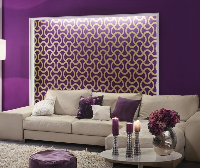 Awesome Living Room Decorating Ideas Love The Purple Maybe Even For Bedroom. Like  The Sofa, Goes Straight To The Ground So Need To Clean Underneath