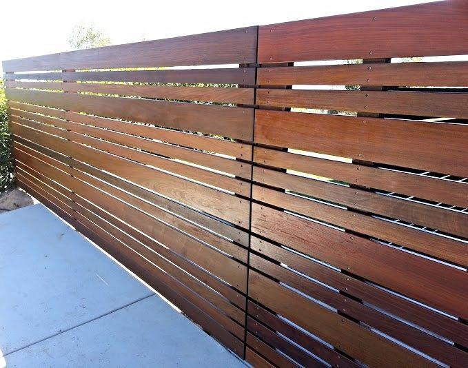 Mid Century Modern House Exterior Fence Design Fence