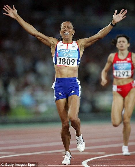 Kelly Holmes winning in the 2004 Athens Olympics - double victory in the 800 and 1500