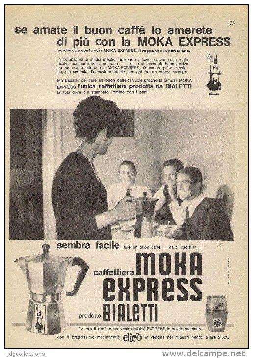 # BIALETTI MOKA CAFFE´ 1950s Advert Pubblicità Publicitè Reklame Coffee Pot Cafetiere Cafè Moca Mokka Kaffeemaschine