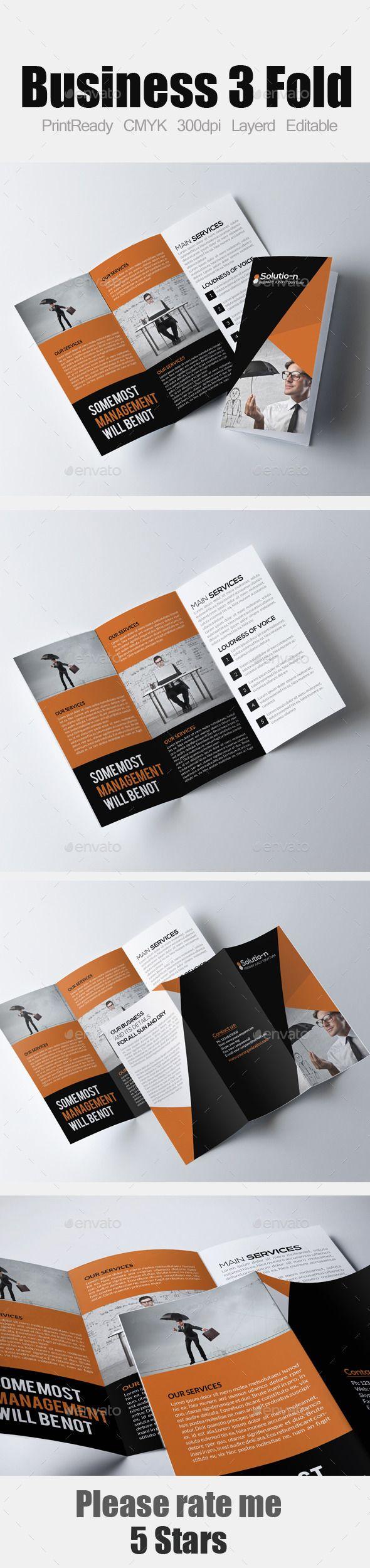 Tri Fold Business Brochure #design Download: http://graphicriver.net/item/tri-fold-business-brochure/12318777?ref=ksioks