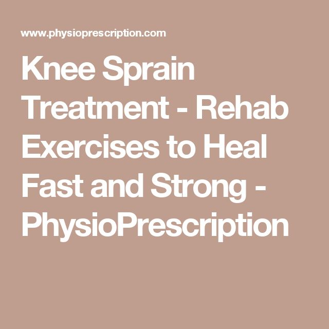 Knee Sprain Treatment - Rehab Exercises to Heal Fast and Strong - PhysioPrescription