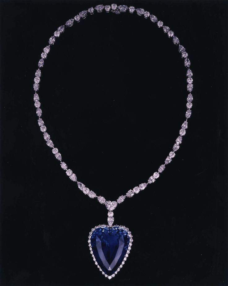 The Heart of the Ocean - The fictional diamond and sapphire necklace crafted from James Cameron's mind that made Titanic history. While the Heart of the Ocean never existed, it wasallegedly crafted after a necklace (that may not have even been made from real sapphire) that was on the real ship and is now called the Love of the Sea.