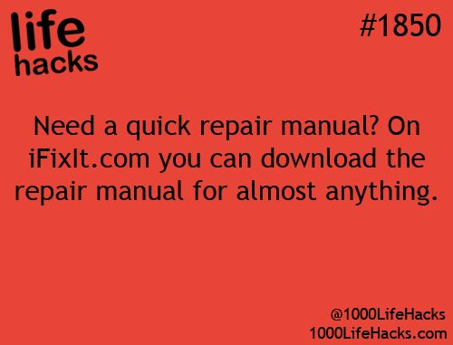 Need a quick repair manual? Here's where to go.