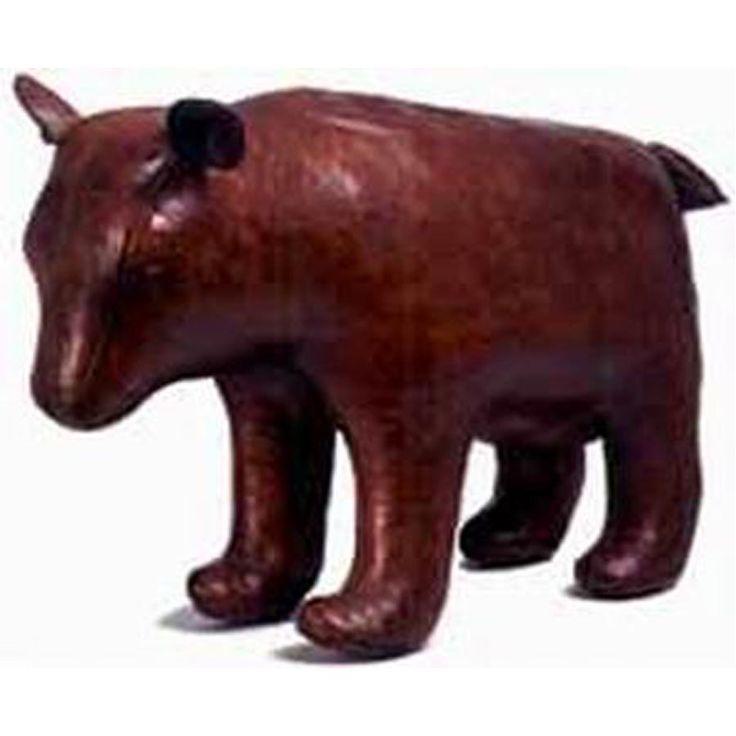 Bear Leather Footstool Lg Jpg 900 215 900 Leather Animal