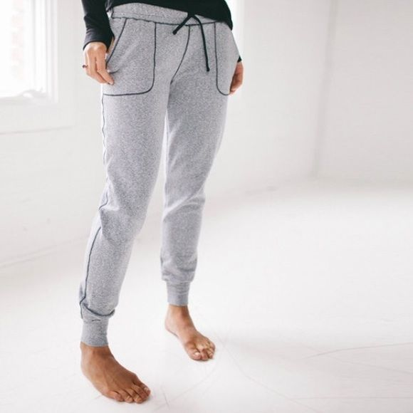 Heather gray Albion Fit Joggers These are super comfy and perfect to dress up or down. I am in love with the brand and I don't love the jogger fit on my body. Worn about five times just to lounge in the house. Albion Fit Pants Track Pants & Joggers