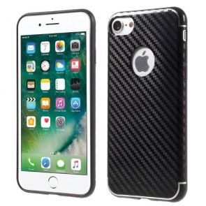 Carcasa IPhone 7, Ultraslim, Silicon, iSmile, Black