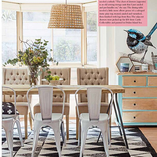 My home made dining table by Megan Boseley of @alwaysloved_designs @insideoutmag
