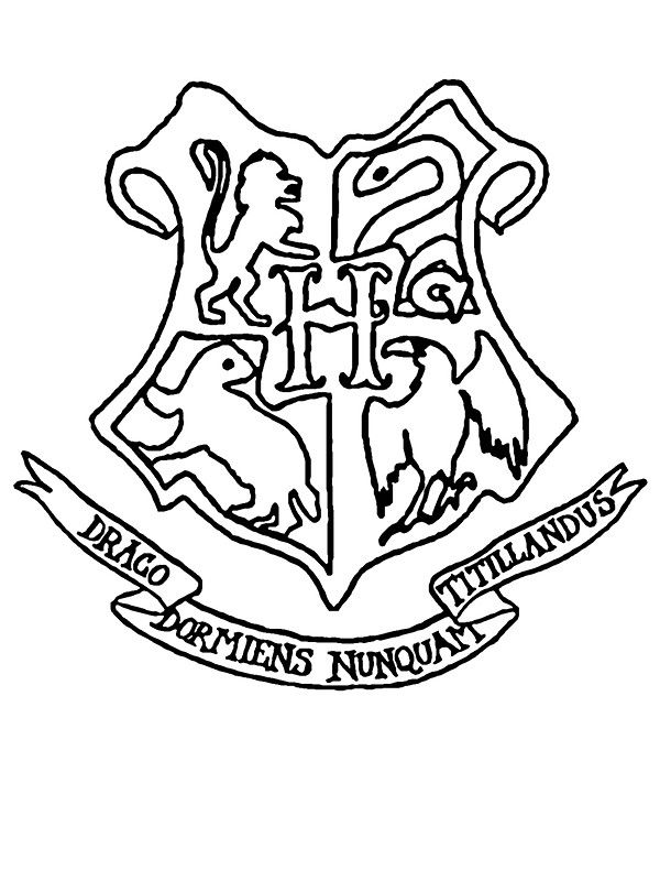 """Hogwarts Crest Outline"""" Stickers by jgfox 