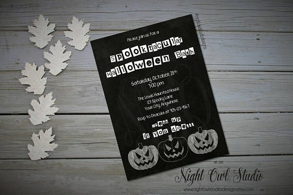 Hey, I found this really awesome Etsy listing at https://www.etsy.com/ca/listing/248997019/halloween-party-invitation-halloween
