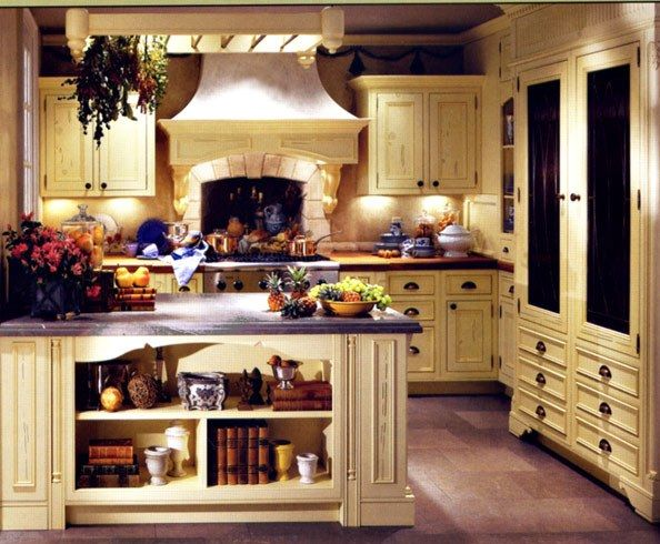 Image of: Small Country Style Kitchens